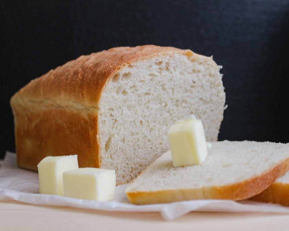 bread on white ceramic plate