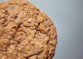 brown cookies on white surface