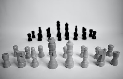 white and black chess piece
