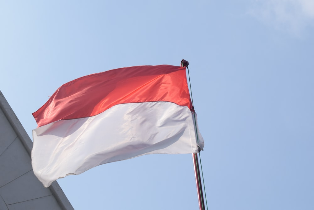 white and red flag under blue sky during daytime