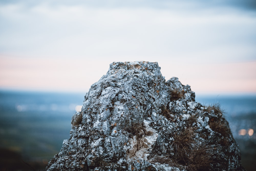 white and brown rock formation