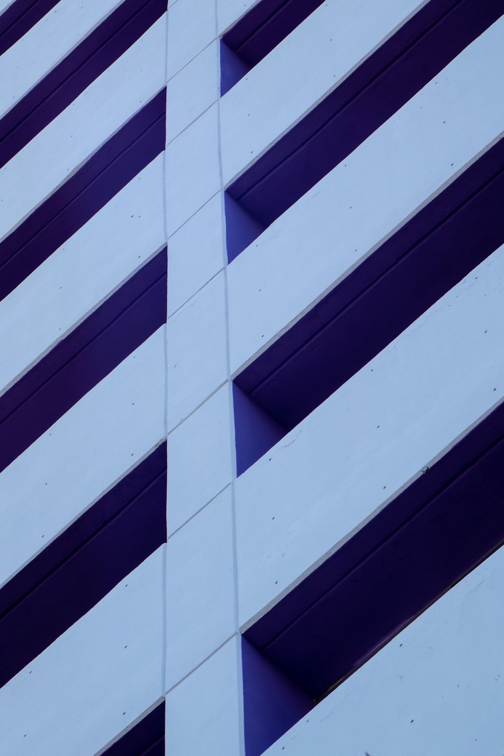 white and blue striped wall
