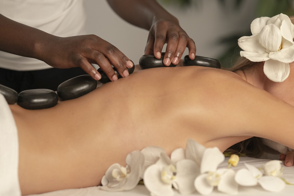 woman enjoying a spa session
