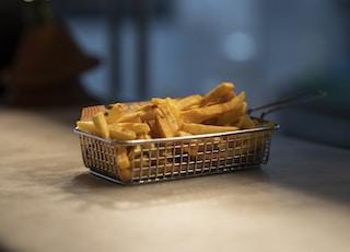 brown bread on stainless steel basket