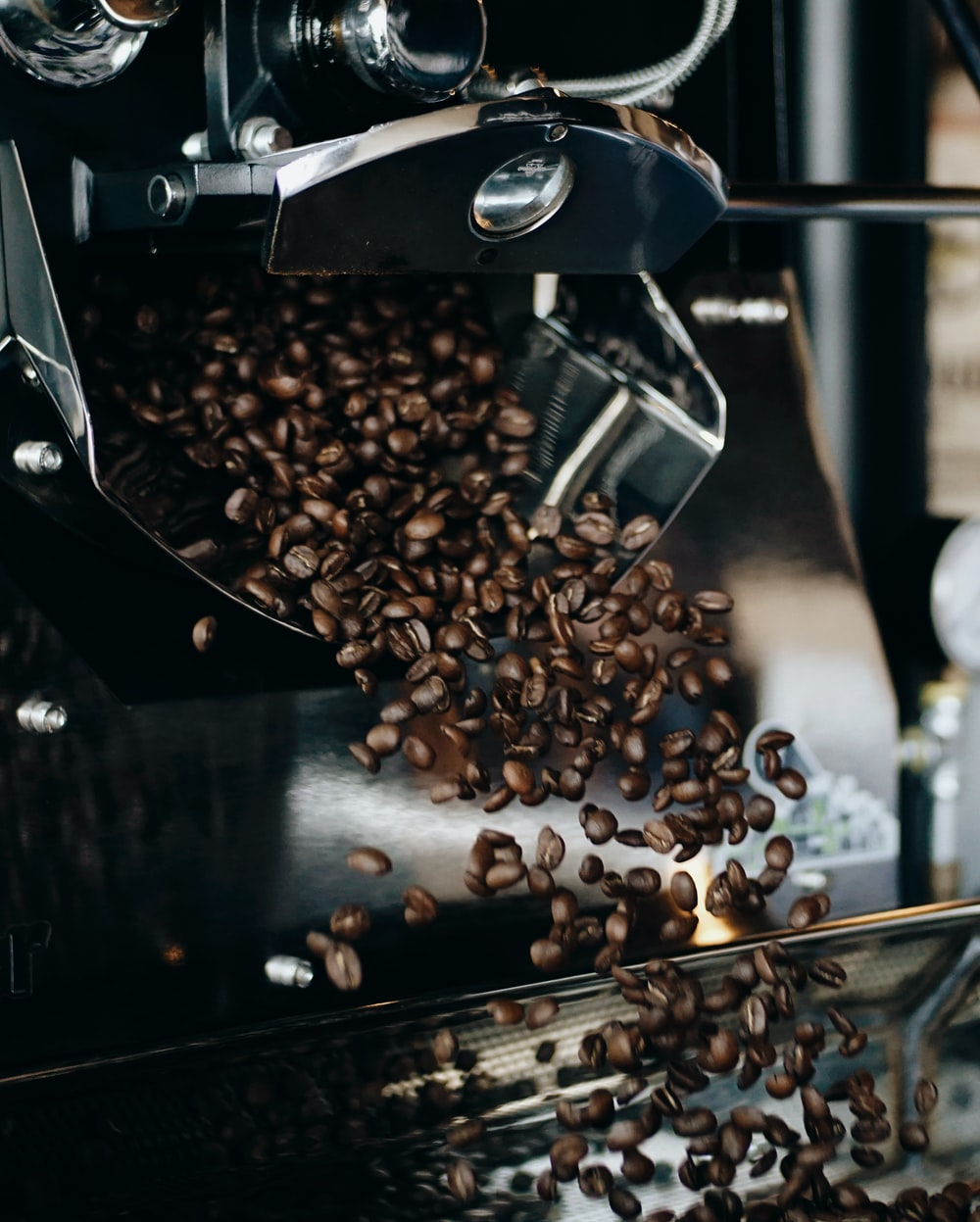 coffee beans on black table