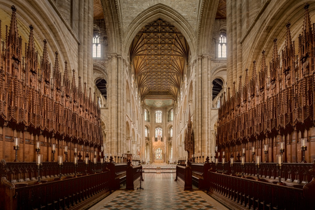 Here Is A Photograph Taken From the Choir Inside Peterborough Cathedral.  Located In Peterborough, Cambridgeshire, England.  Website : Www.michaeldbeckwith.com   Email : Michael@michaeldbeckwith.com - unsplash