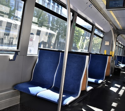 An empty train due to covid-19 virus