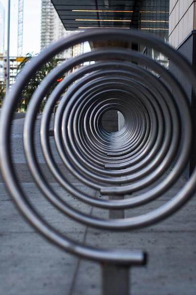 black spiral stairs during daytime