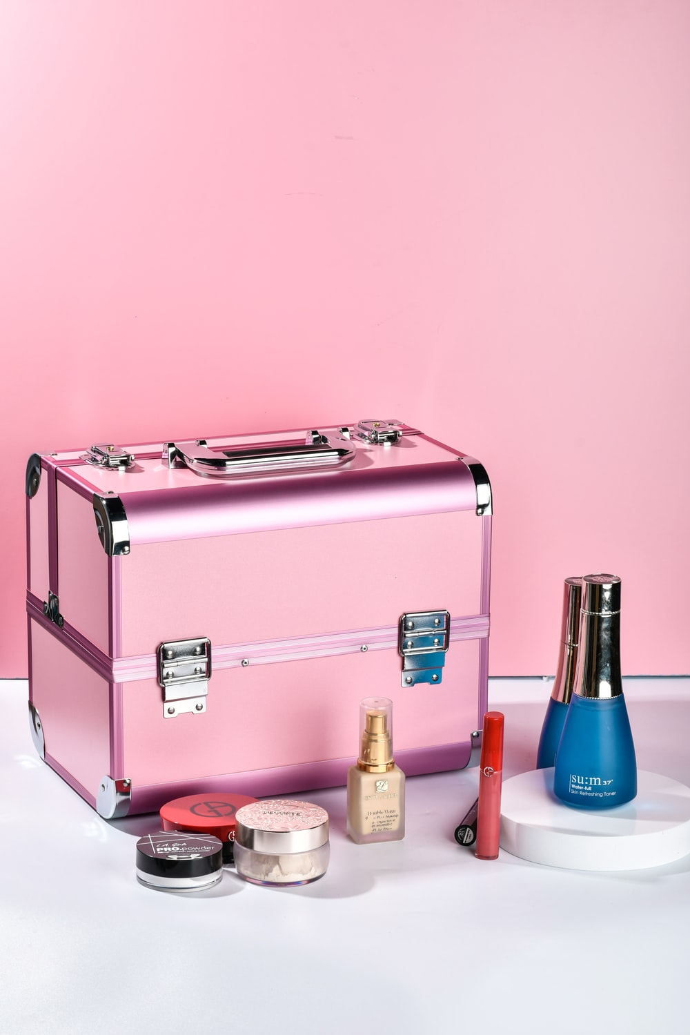 pink and silver 2 slice toaster