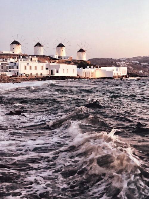 Wind mills at Chora