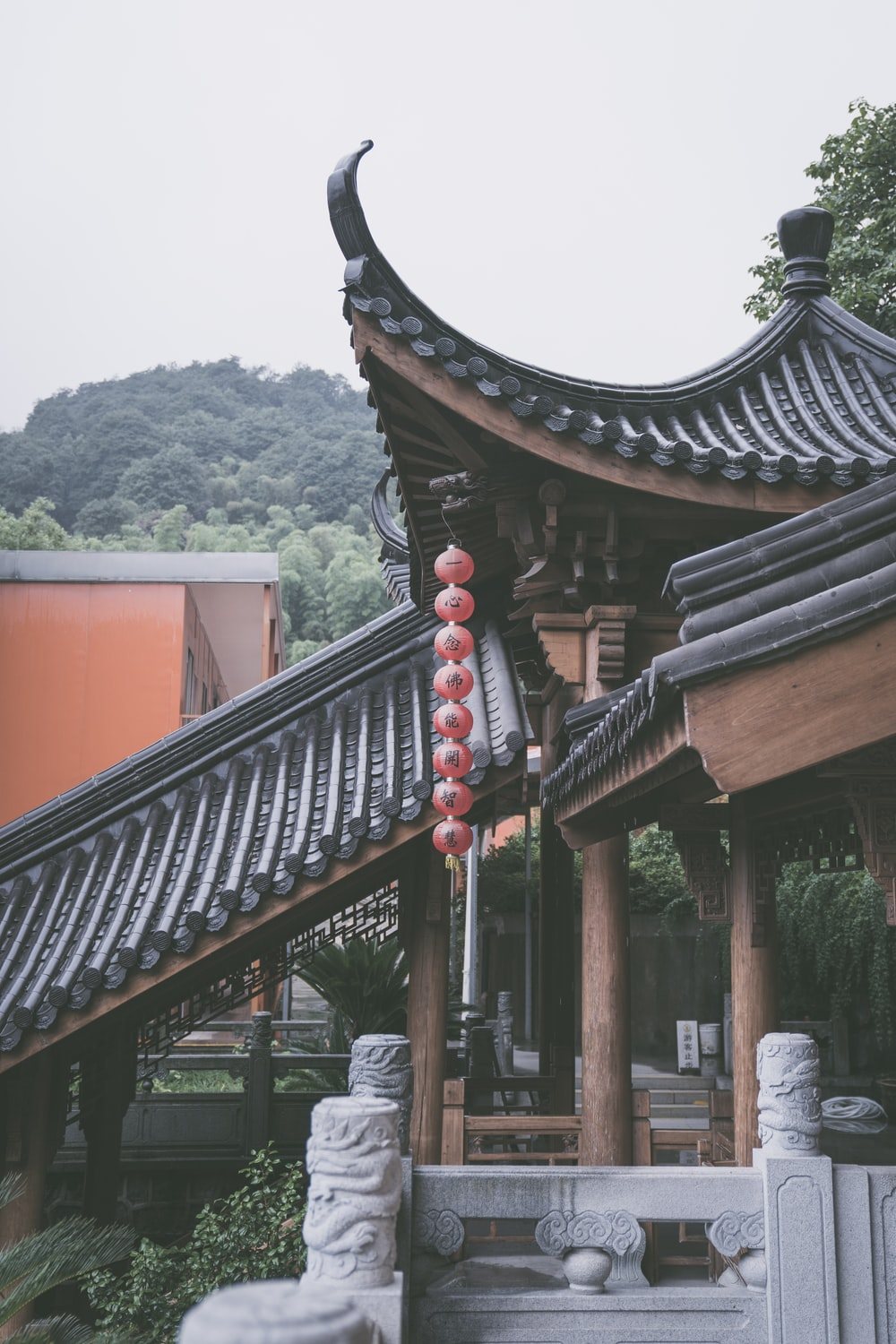 red and black chinese temple