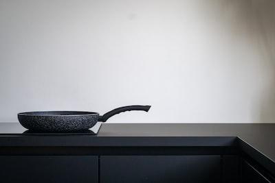 pan on a glass stove top