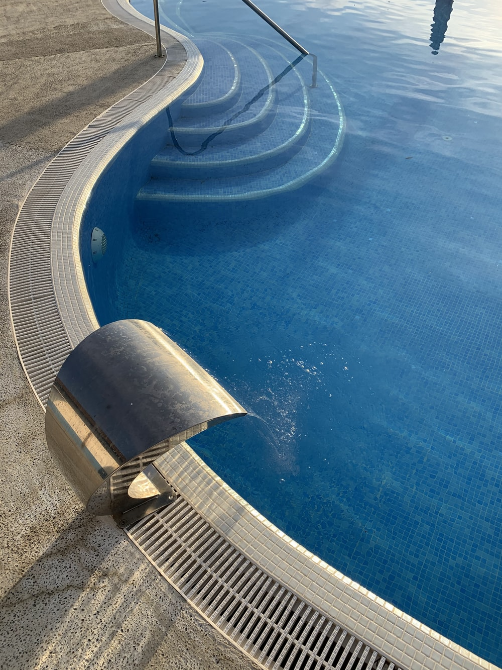 blue and white swimming pool