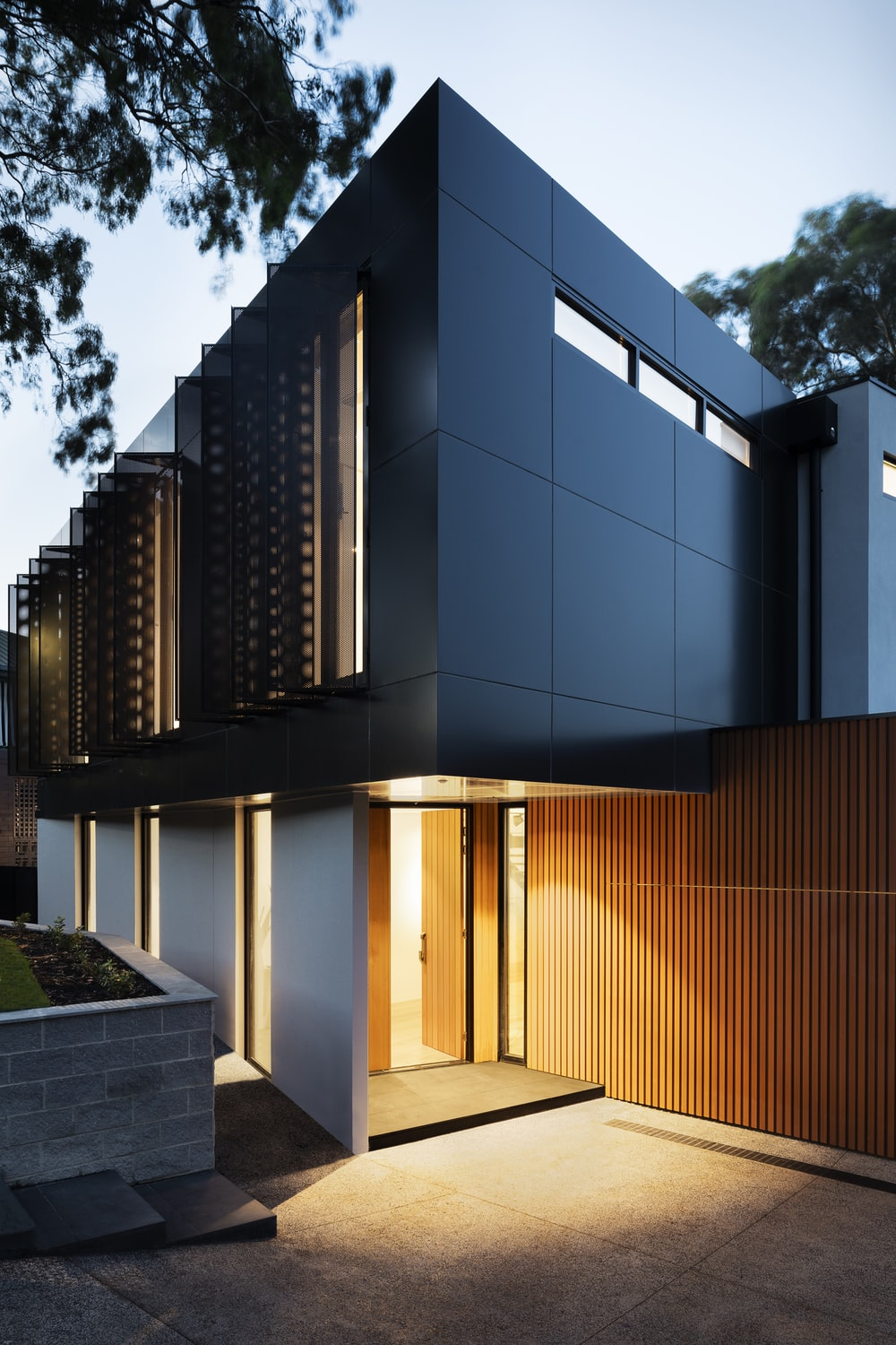 brown and black concrete building