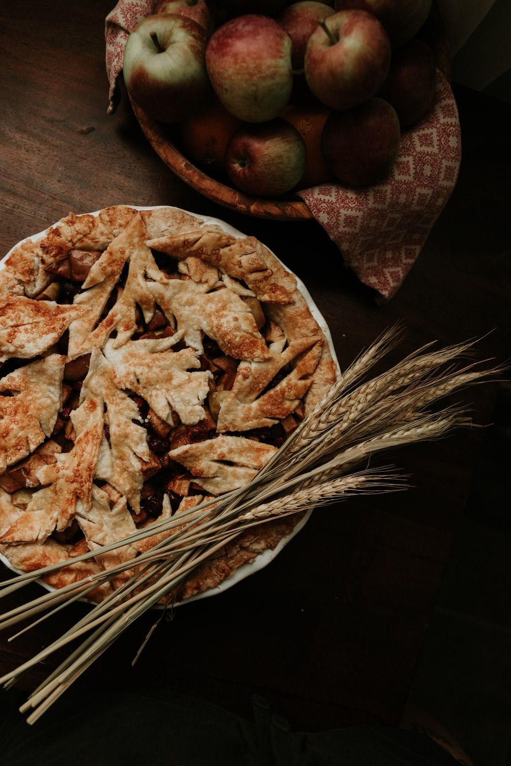 brown and white food on brown wooden table