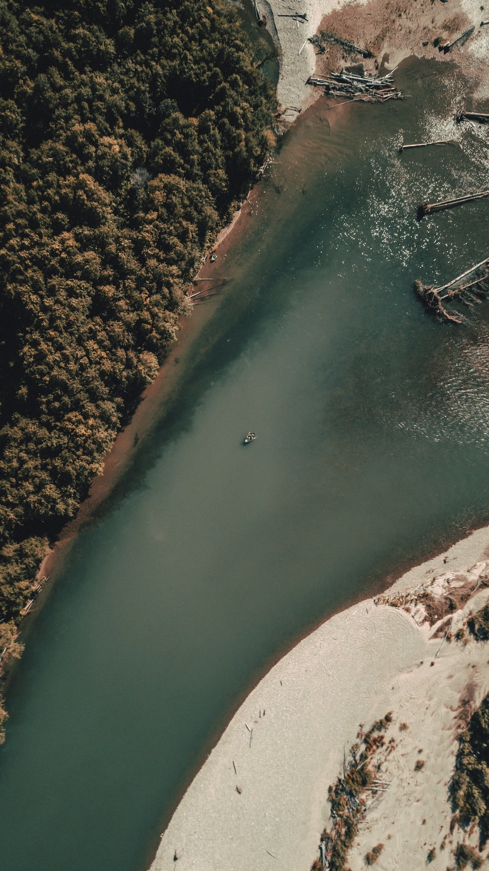 aerial view of body of water during daytime
