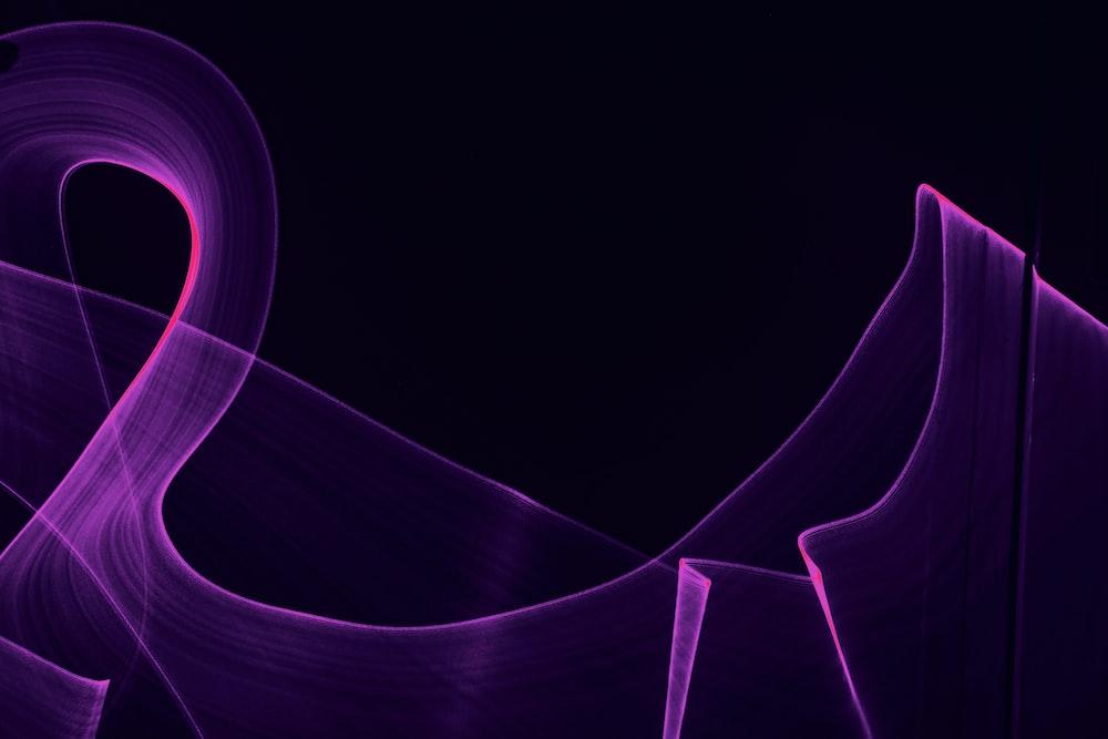 purple light in white background
