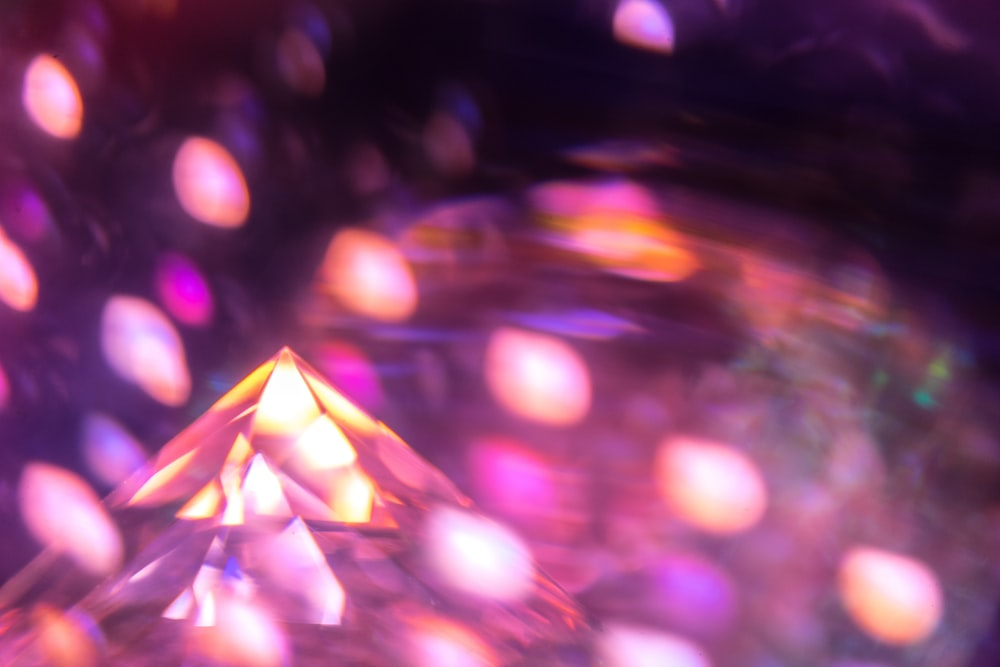 bokeh photography of pink and yellow lights