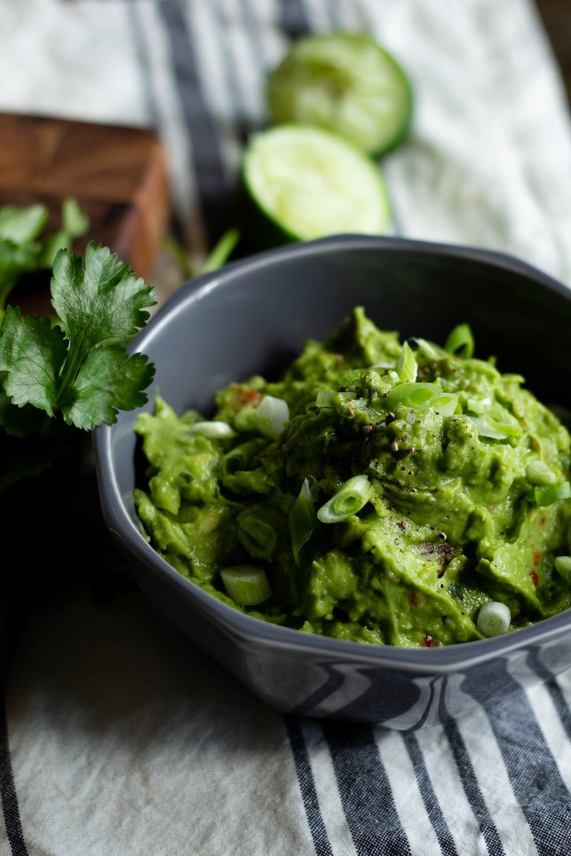 green vegetable in grey ceramic bowl