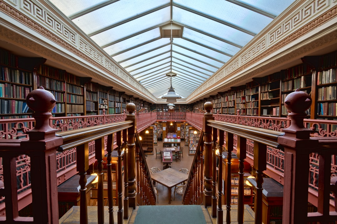 Here Is A Photograph Taken From Inside the Leeds Library.  Located In Leeds, Yorkshire, England.  Website : Www.michaeldbeckwith.com   Email : Michael@michaeldbeckwith.com - unsplash
