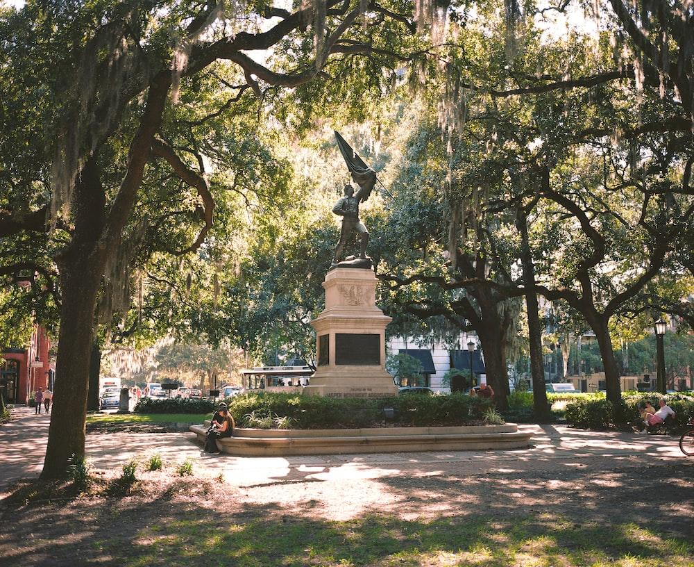black statue in the park