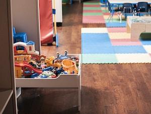 clean infant school floor