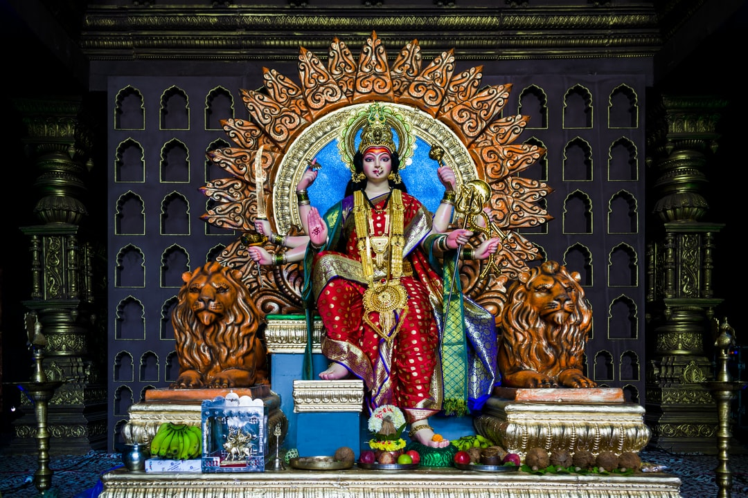 A Durga Devi Temple In Mumbai, India During the Festival of Navratri In 2019 - unsplash