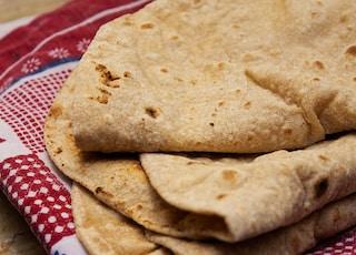 Close shot of an Asian Chapaati Bread