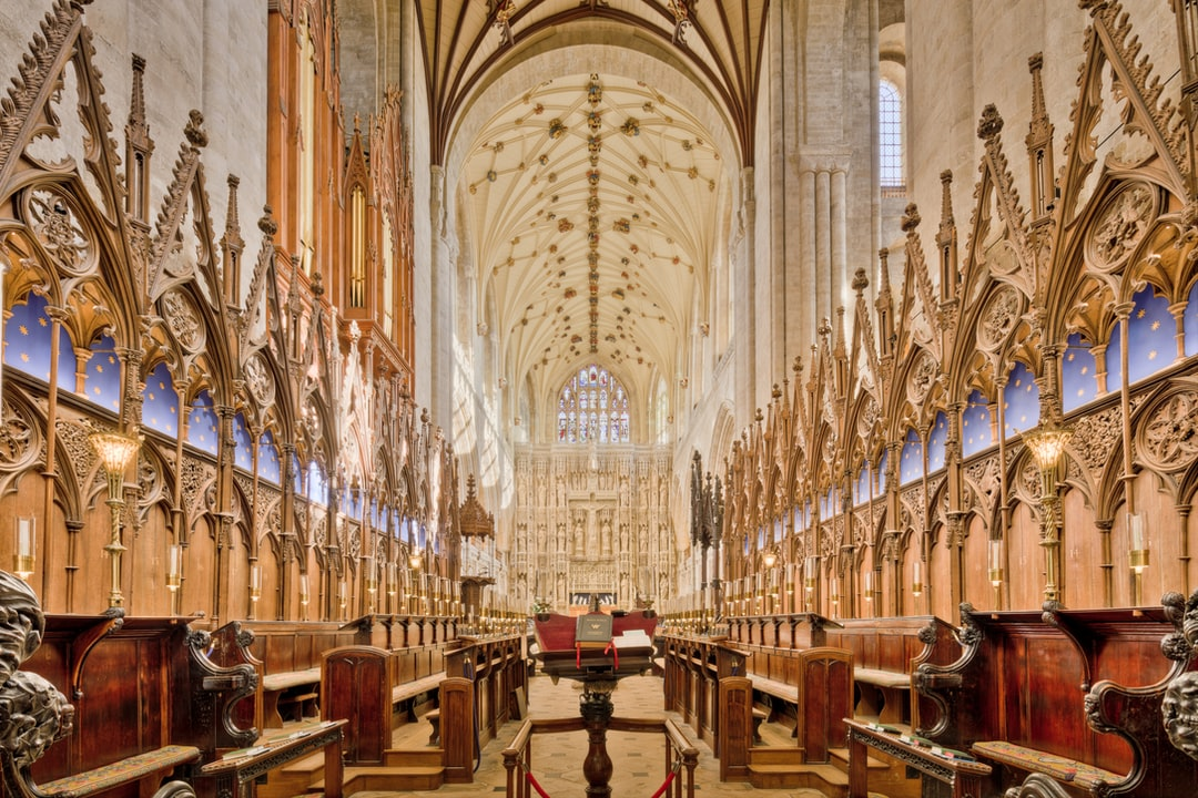 Here Is A Photograph Taken From the Choir Inside Winchester Cathedral.  Located In Winchester, Hampshire, England.  Website : Www.michaeldbeckwith.com  Email : Michael@michaeldbeckwith.com - unsplash