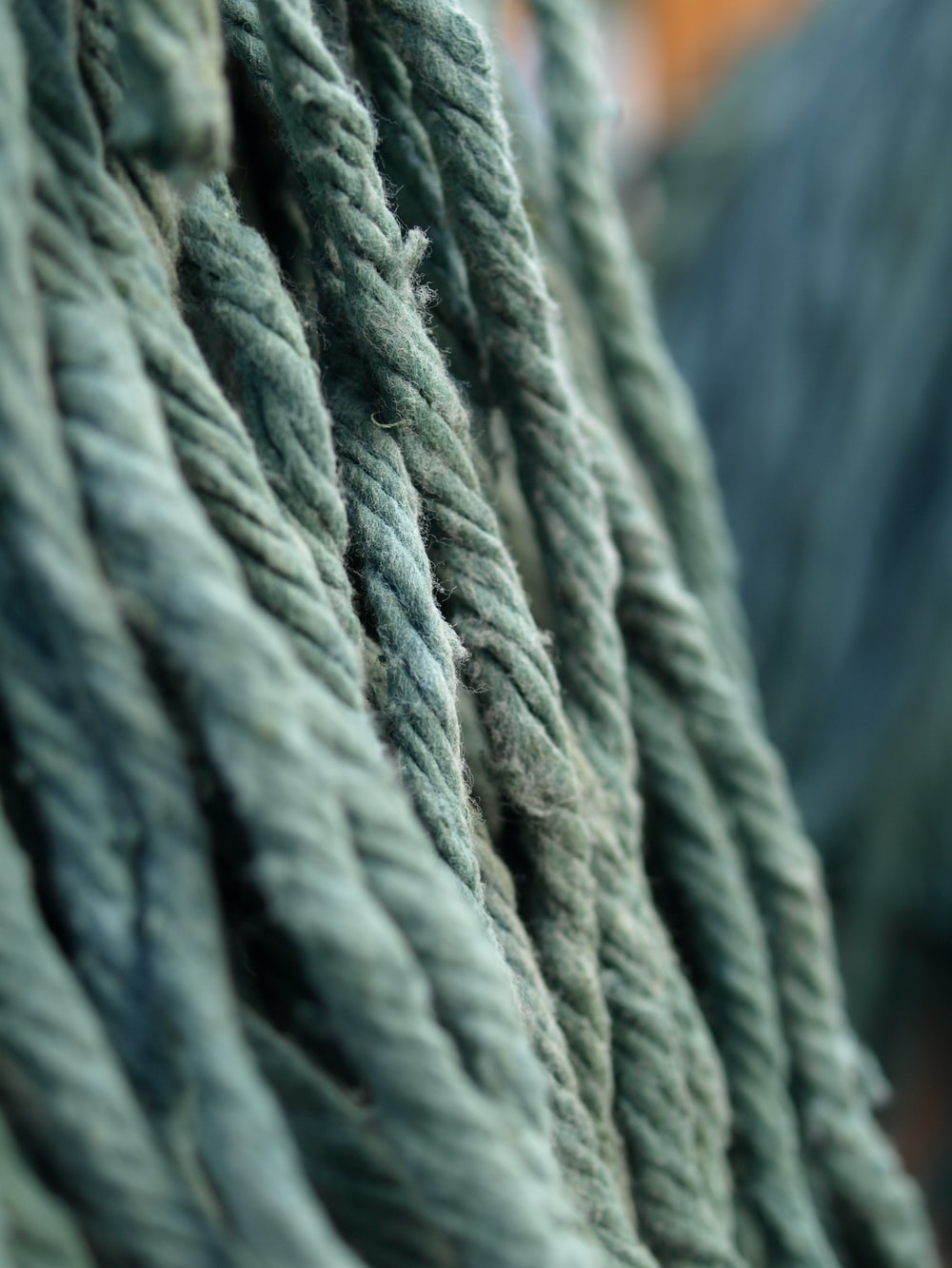 gray rope in close up photography