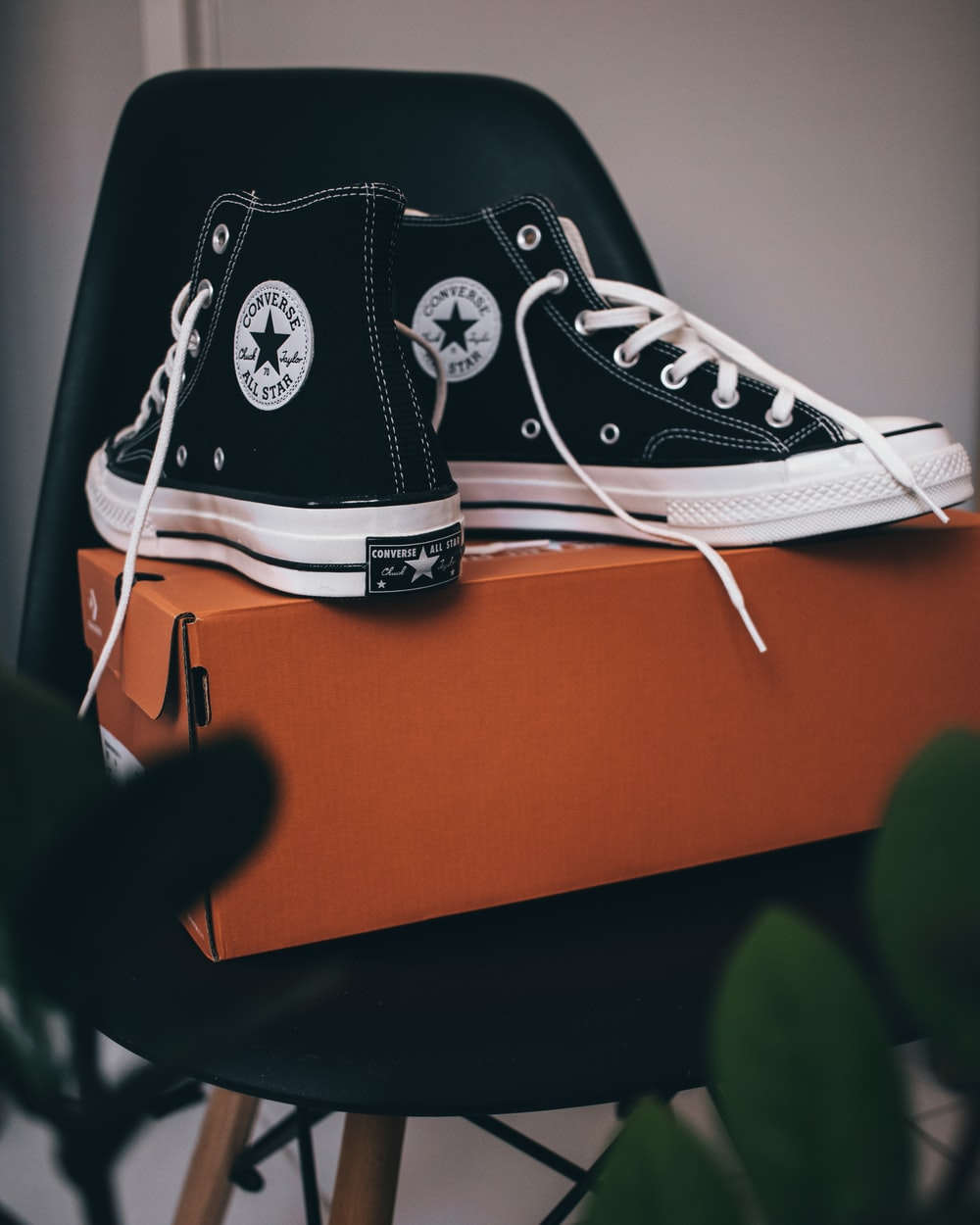 black and white converse all star high top sneaker