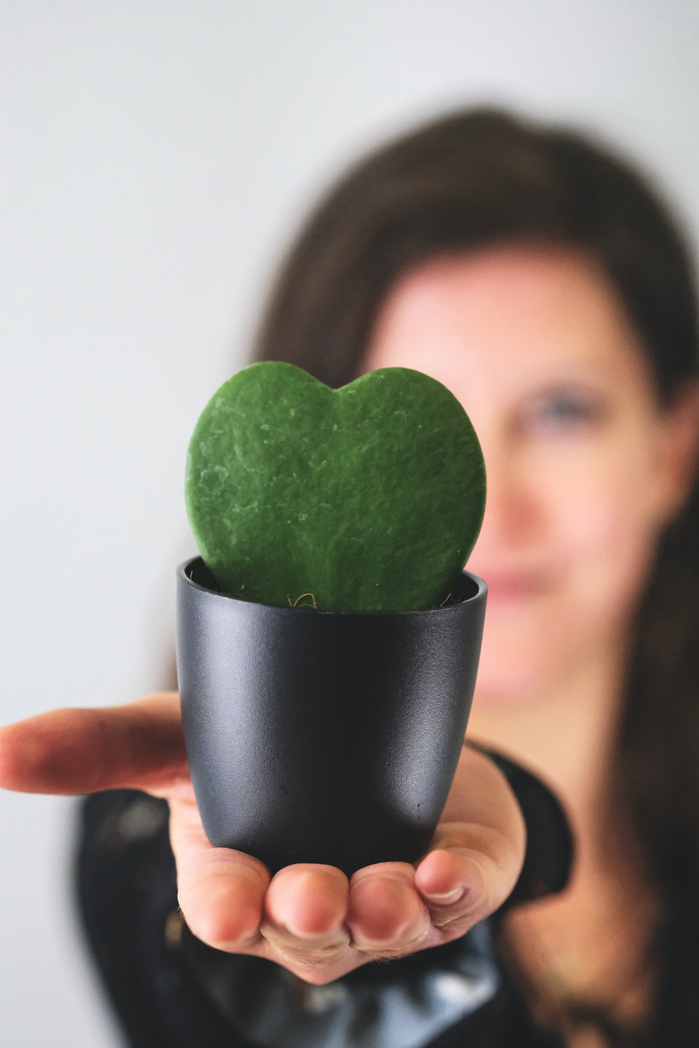 person holding green heart shaped fruit
