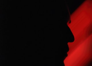 silhouette of mans face