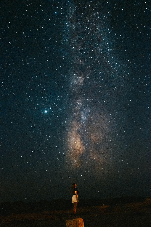 starry night sky over the city