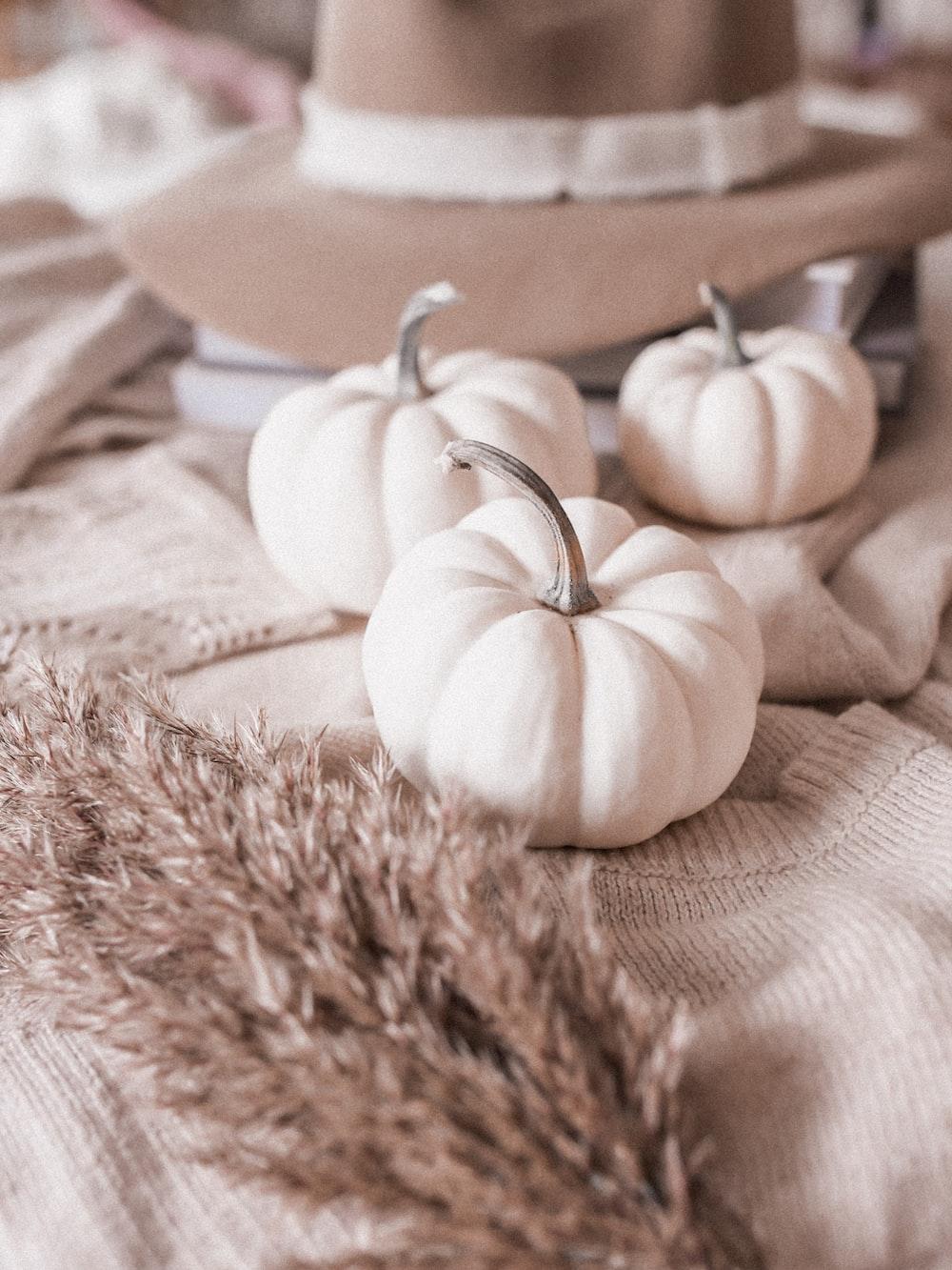 white garlic on brown textile