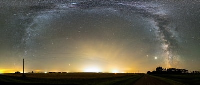 green grass field under starry night north dakota zoom background