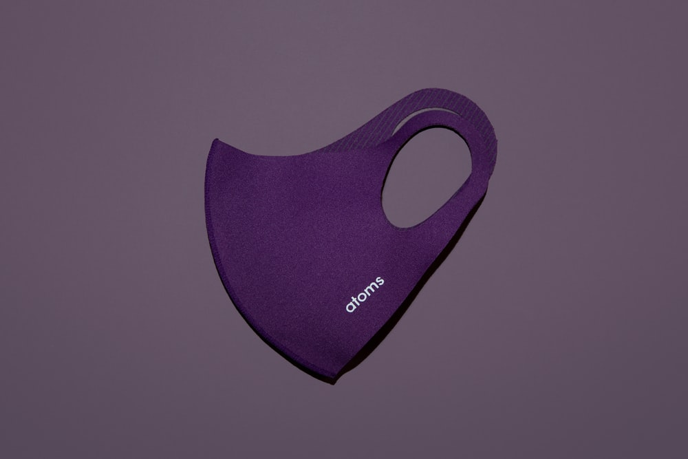 Purple face mask from Atoms