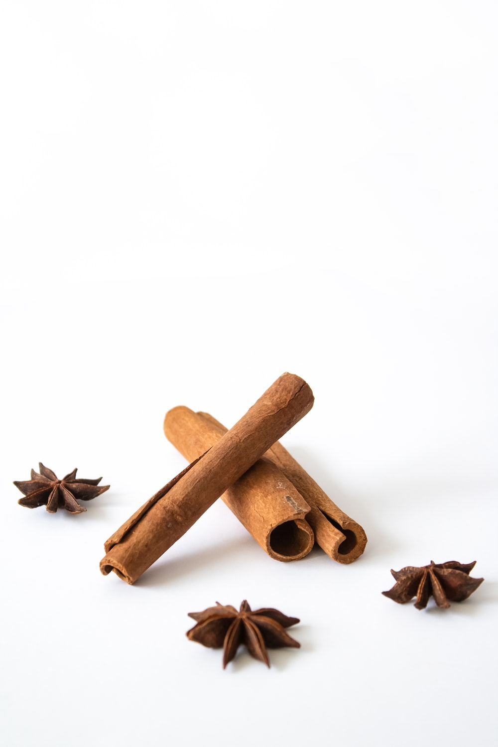brown wooden stick with white background