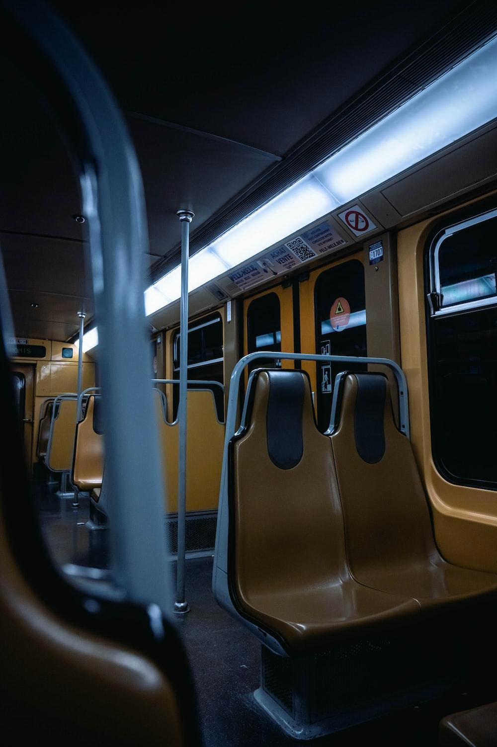 black and yellow train door