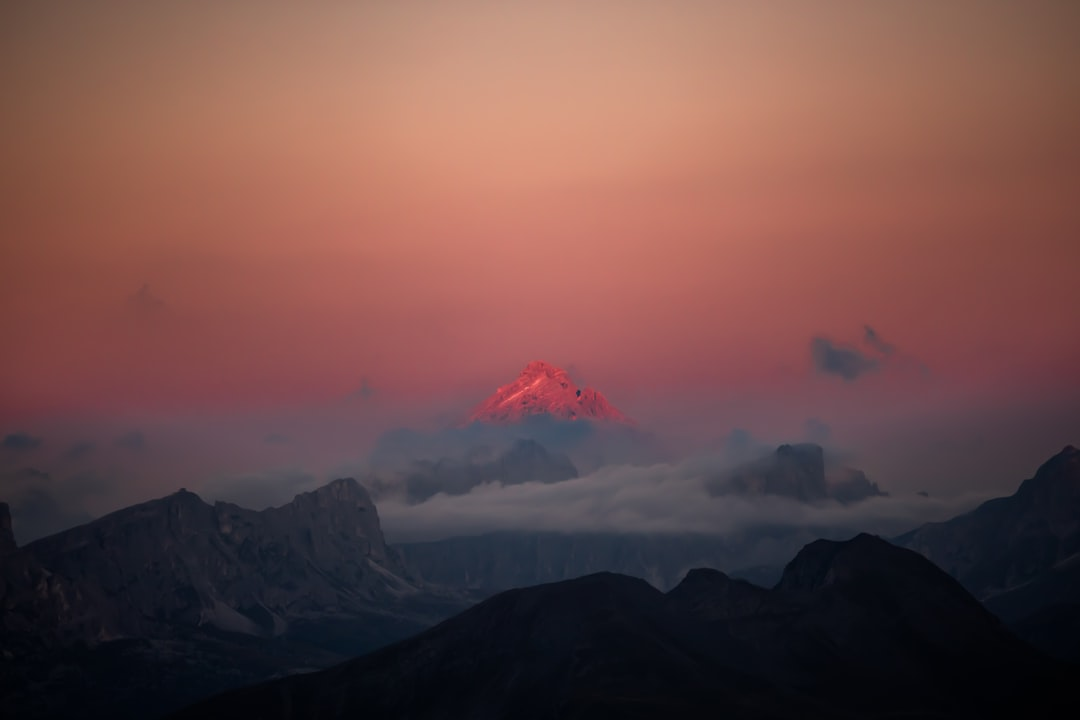 Sunset In the Dolomites - unsplash