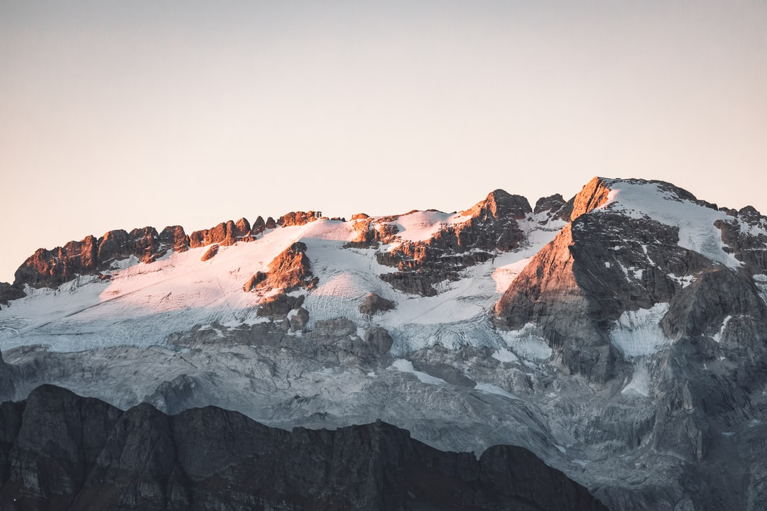 Beautiful Sunset Colours On A Glacier In the Dolomites - unsplash