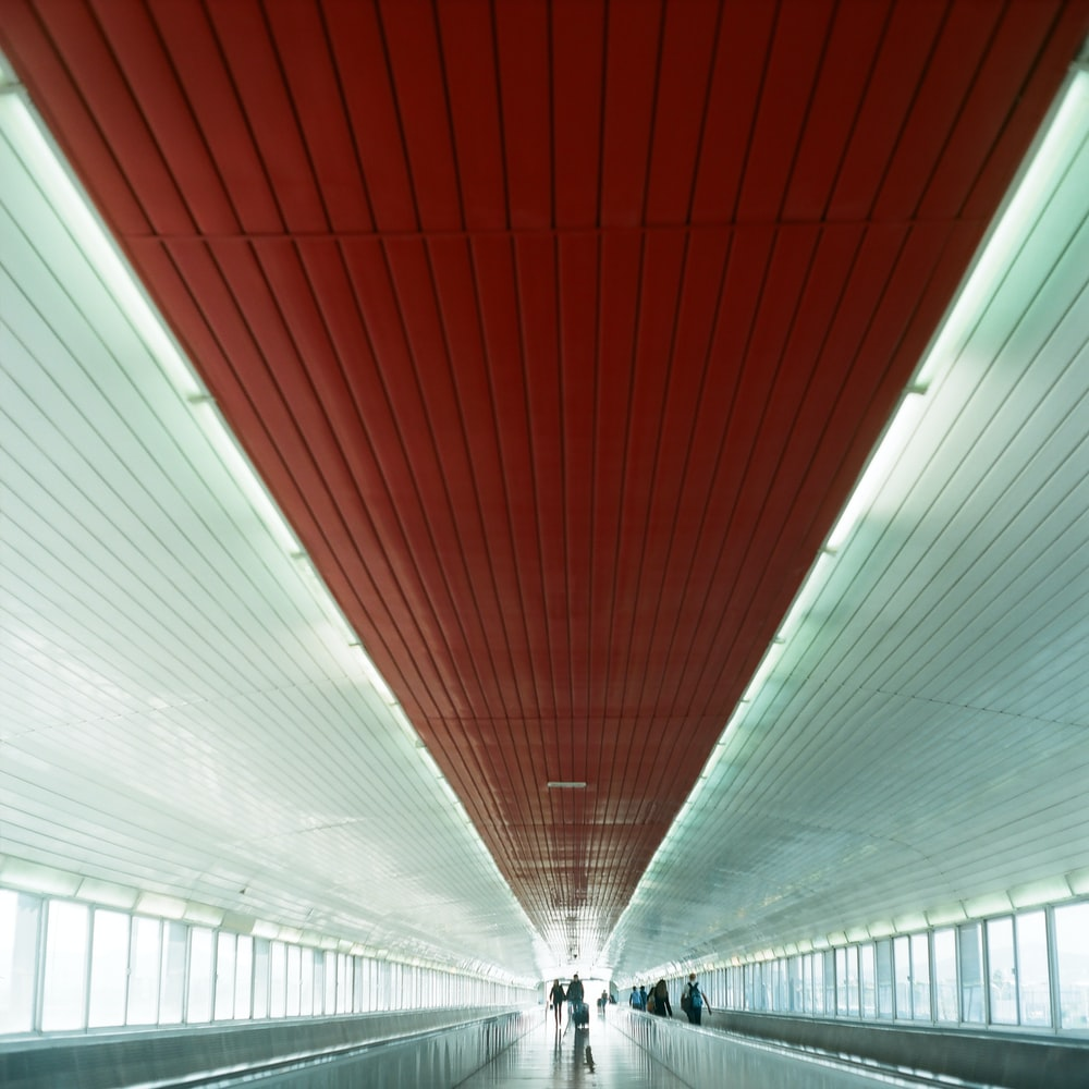white and red tunnel during daytime
