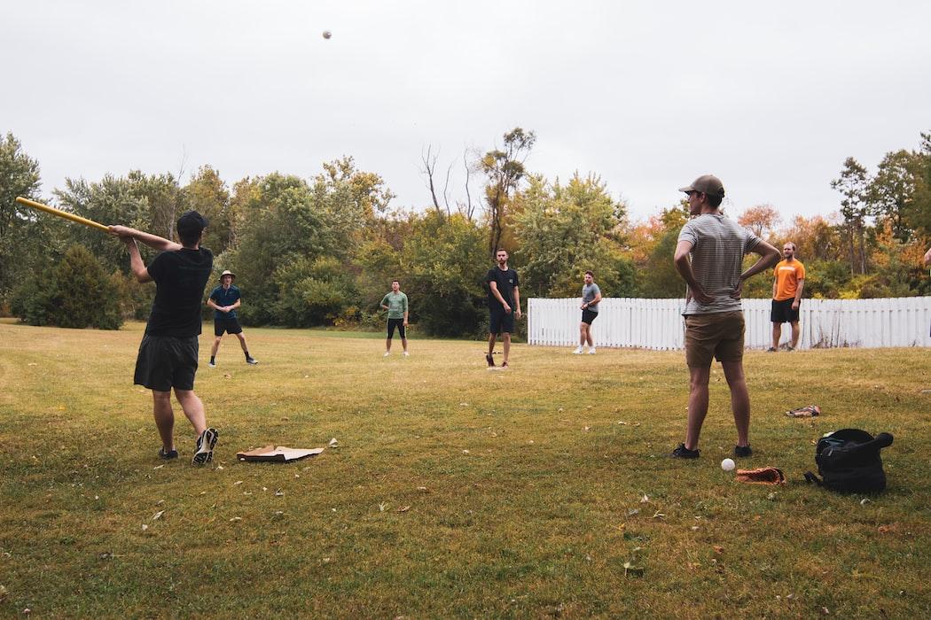 baseball game in park