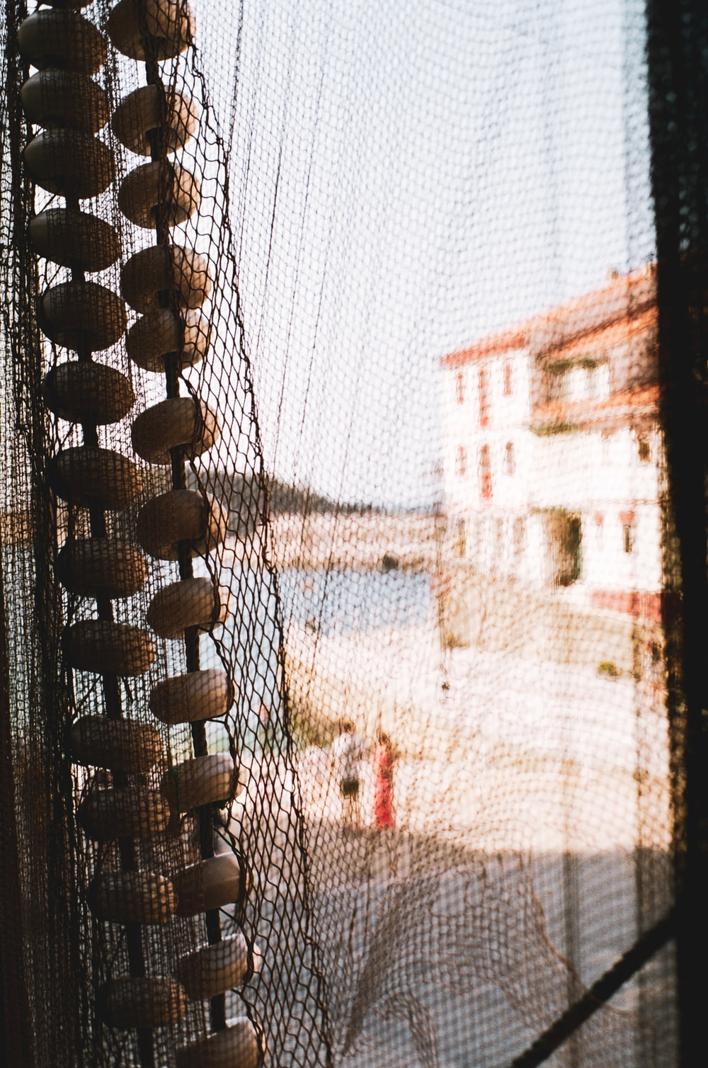 brown metal chain link fence