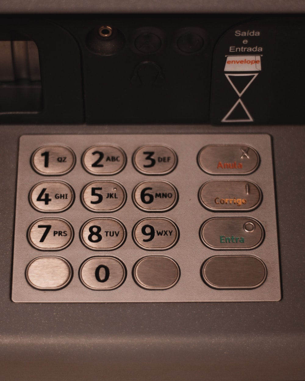 black and gray control panel