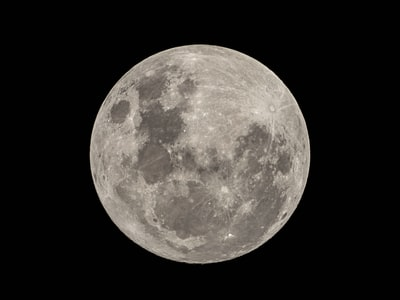 full moon in black background outer-space zoom background