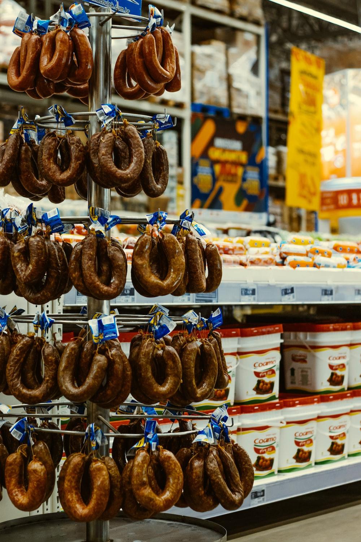 brown bread on white steel rack