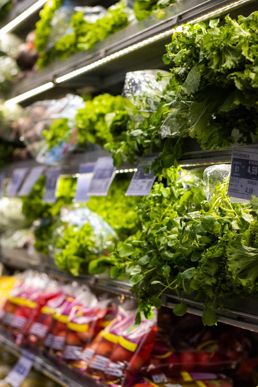 green leafy vegetable on display