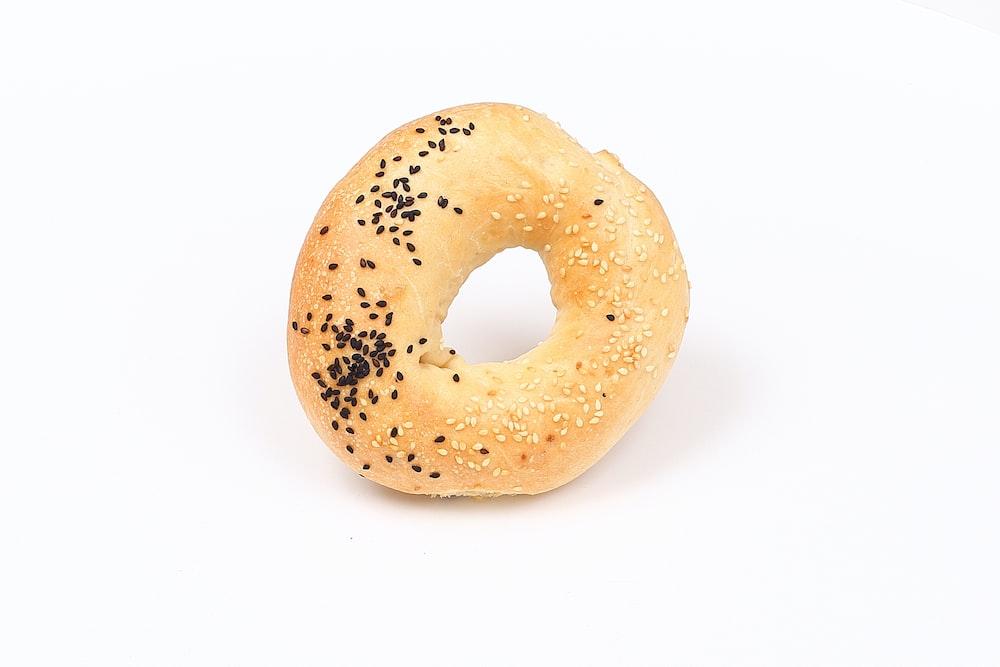 brown doughnut on white surface
