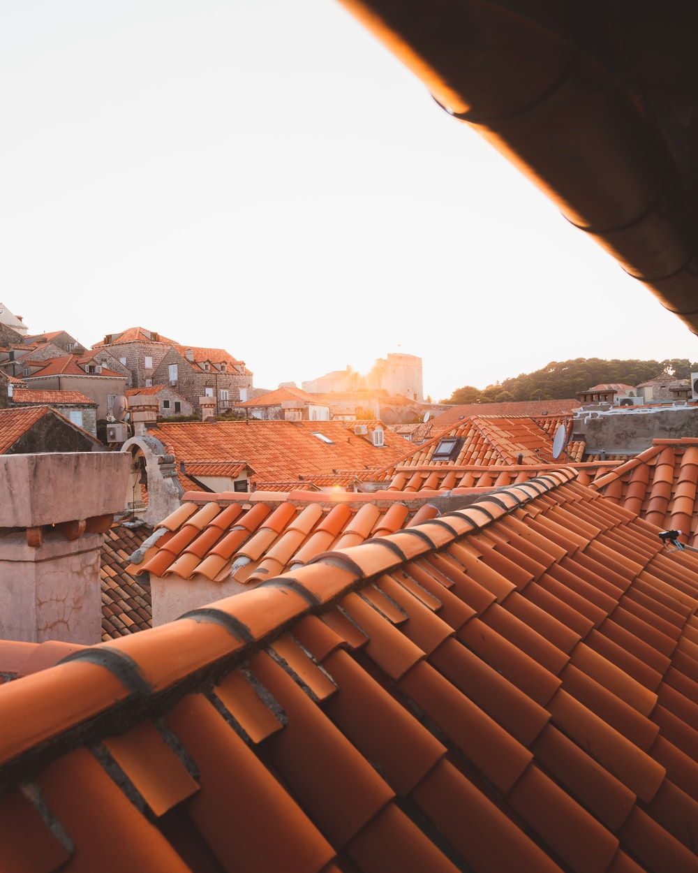 brown roof tiles during daytime
